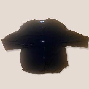 SPLENDID black button tie top small